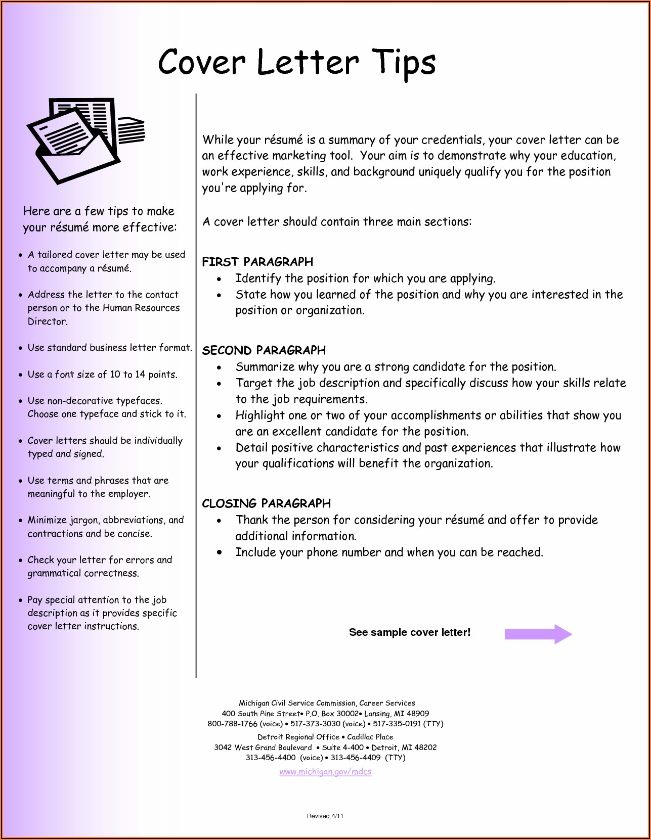 Free Examples Of Cover Letters For Resumes