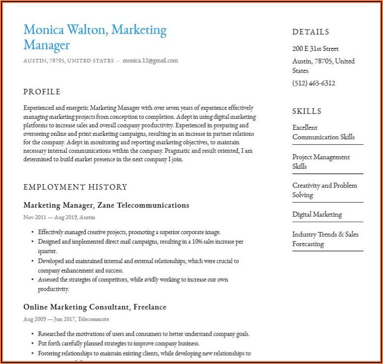 Free Pdf Resume Templates Download