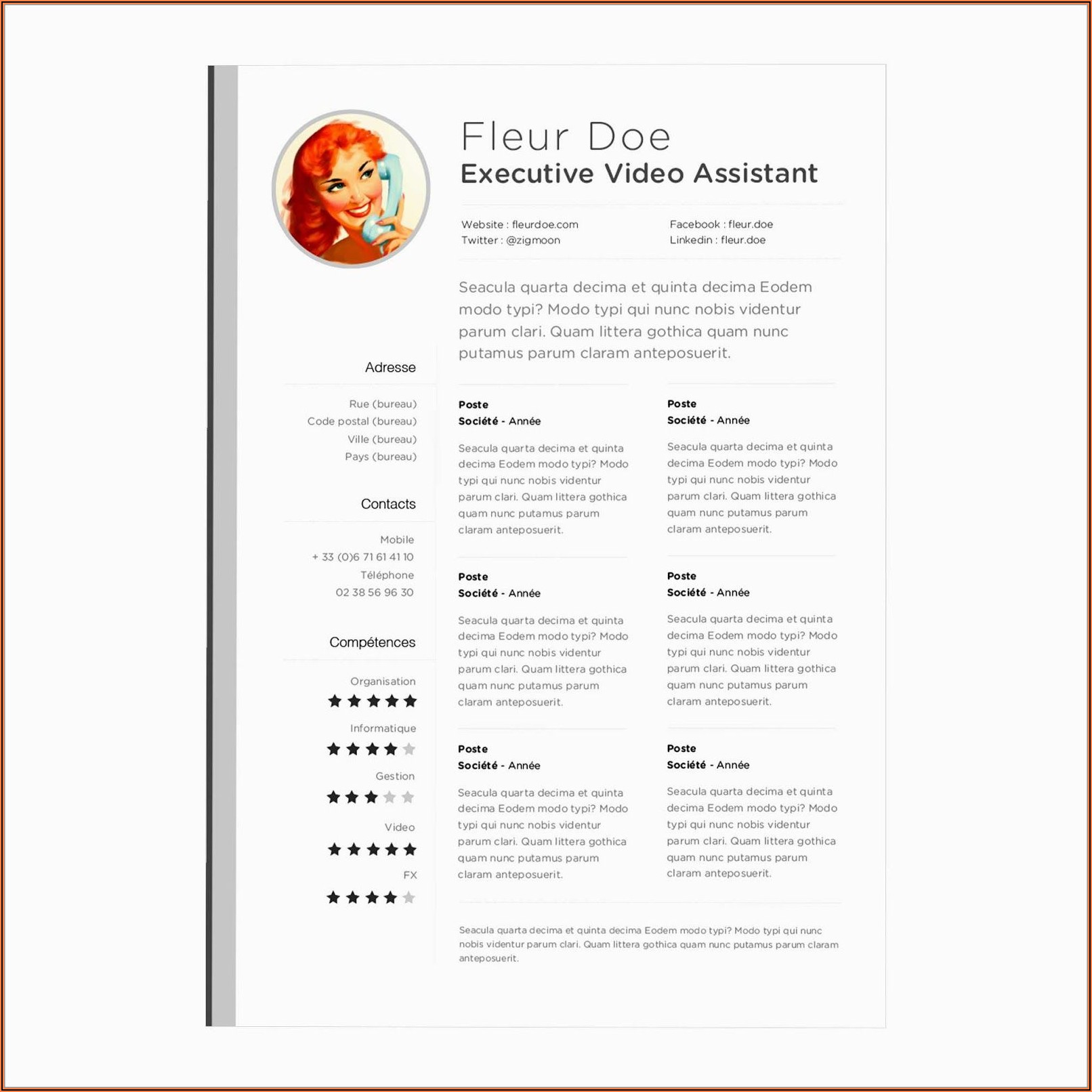 Free Resume Template For Apple