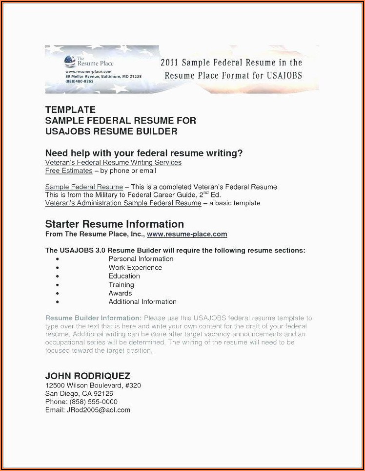 Free Resume Writing Services For Military