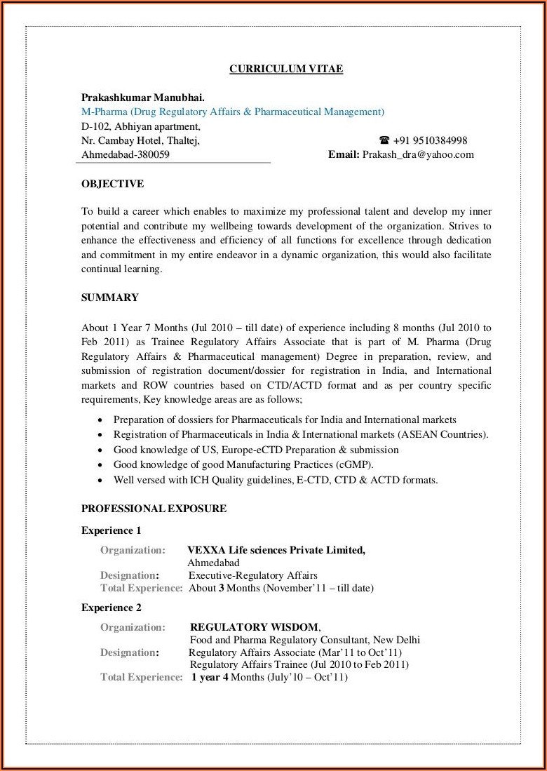 Free Resume Writing Services In India