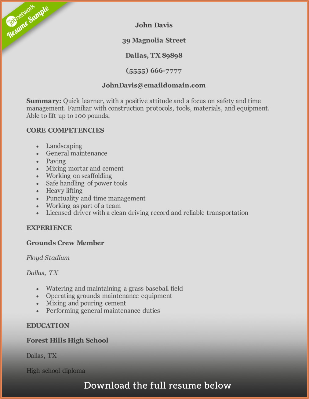 Free Resume Writing Services Perth