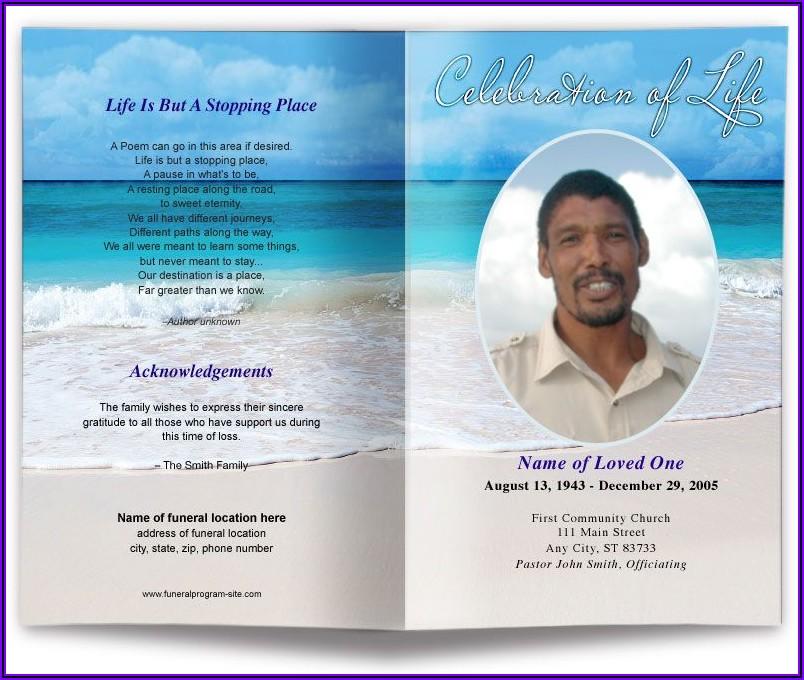 Free Word Funeral Program Template