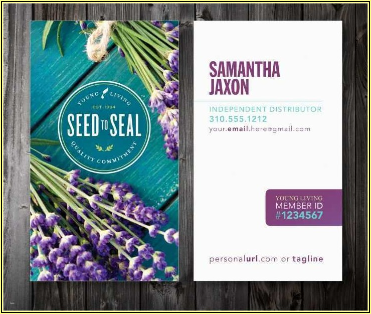 Free Young Living Business Card Templates