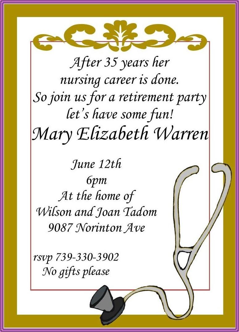 Funny Retirement Invitation Wording Ideas