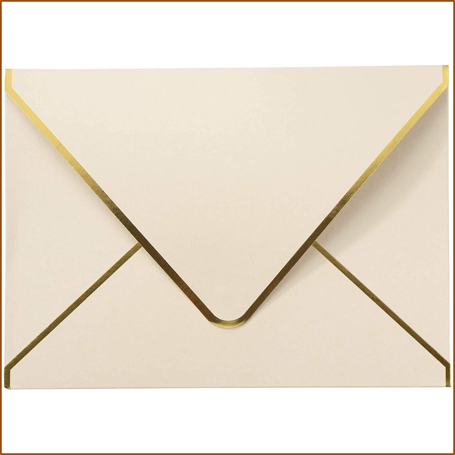 Gold Foil Lined A7 Envelopes