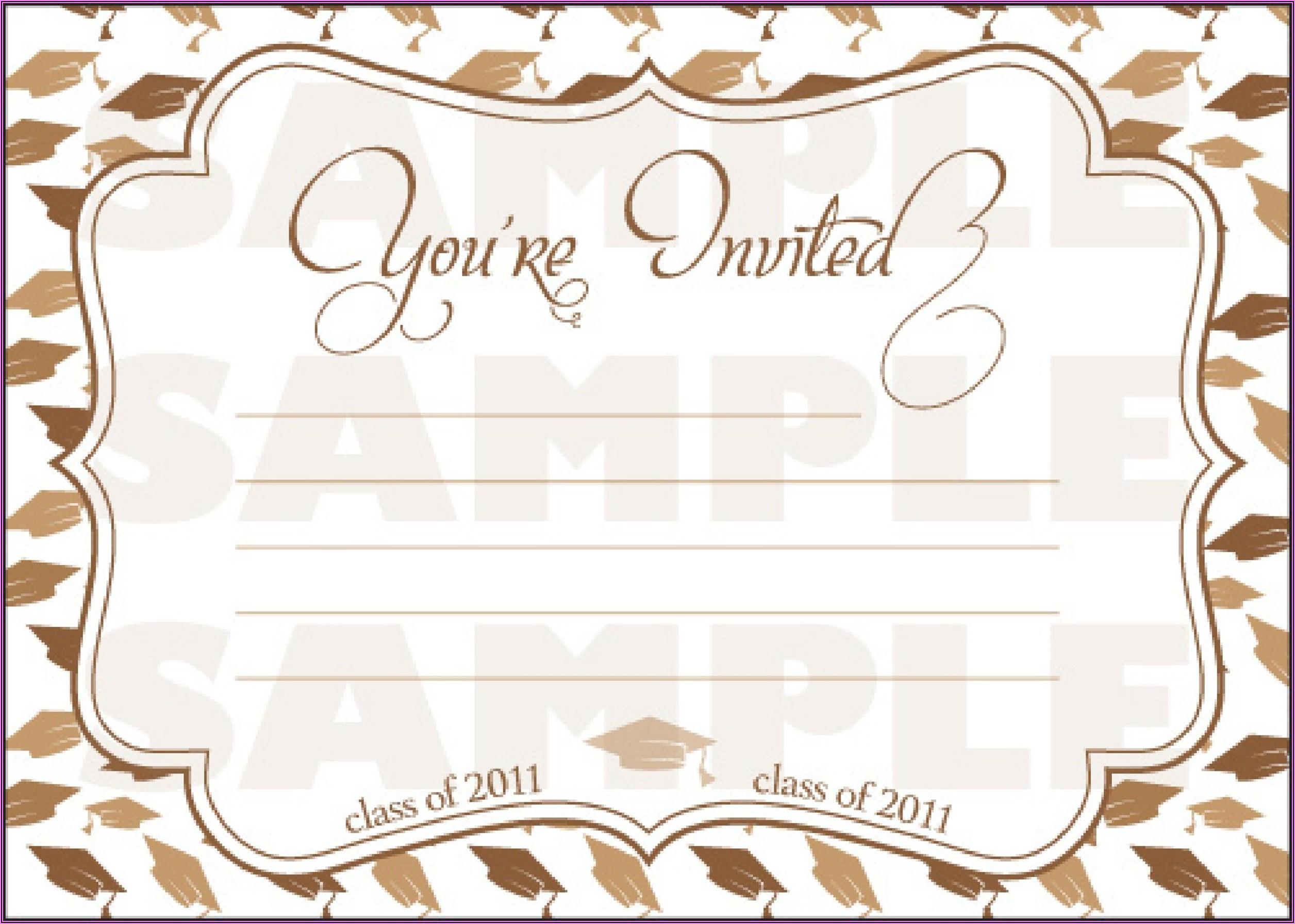 Graduation Ceremony Invitation Cards Samples