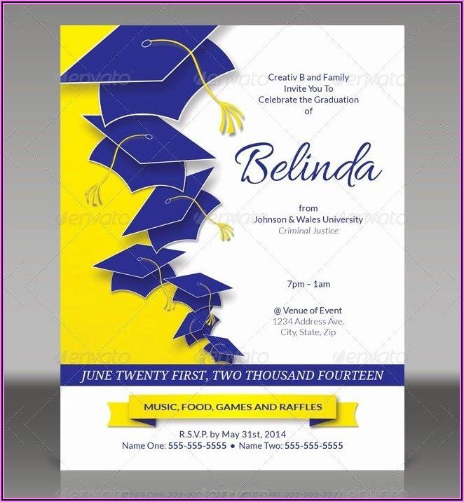 Graduation Invitation Card Template Word