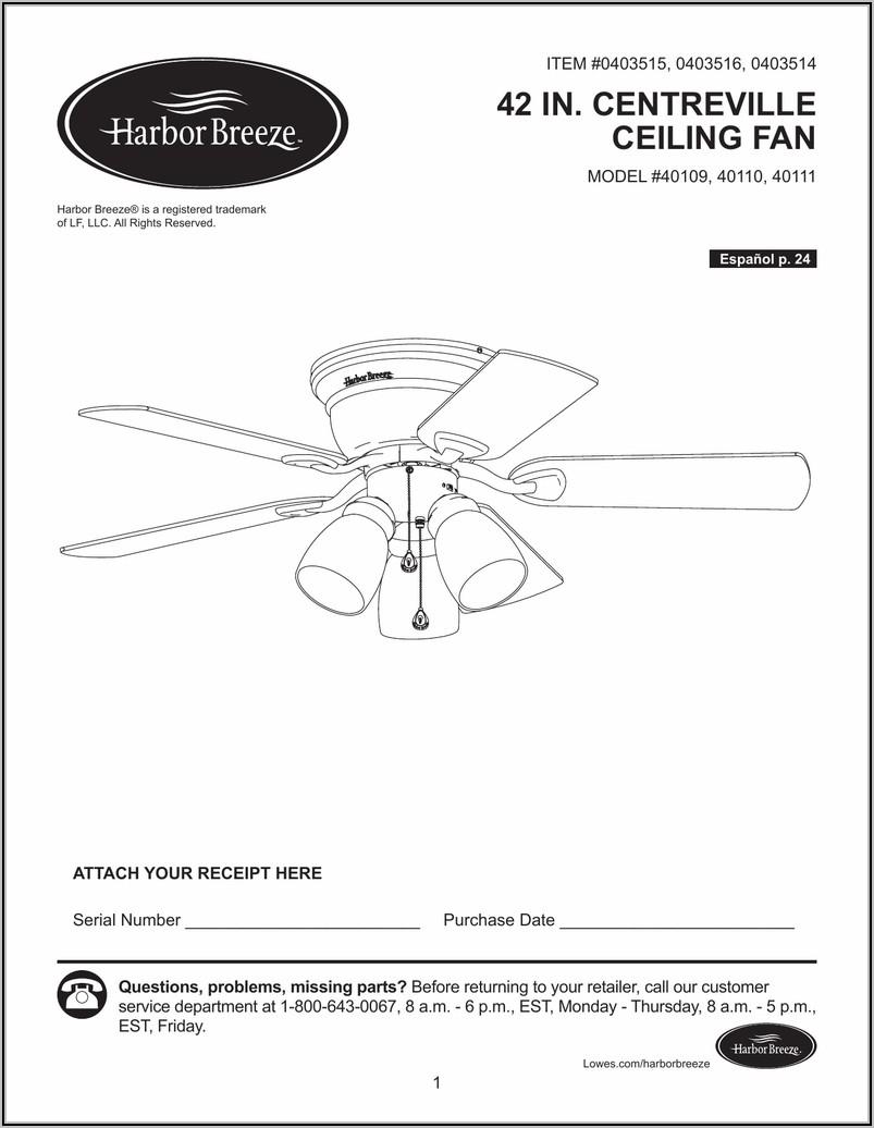 Harbor Breeze Ceiling Fan Motor Wiring Diagram