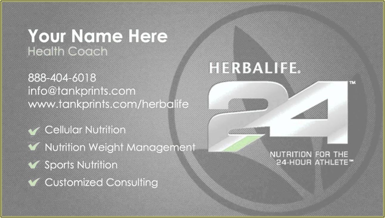 Herbalife Business Cards Pdf