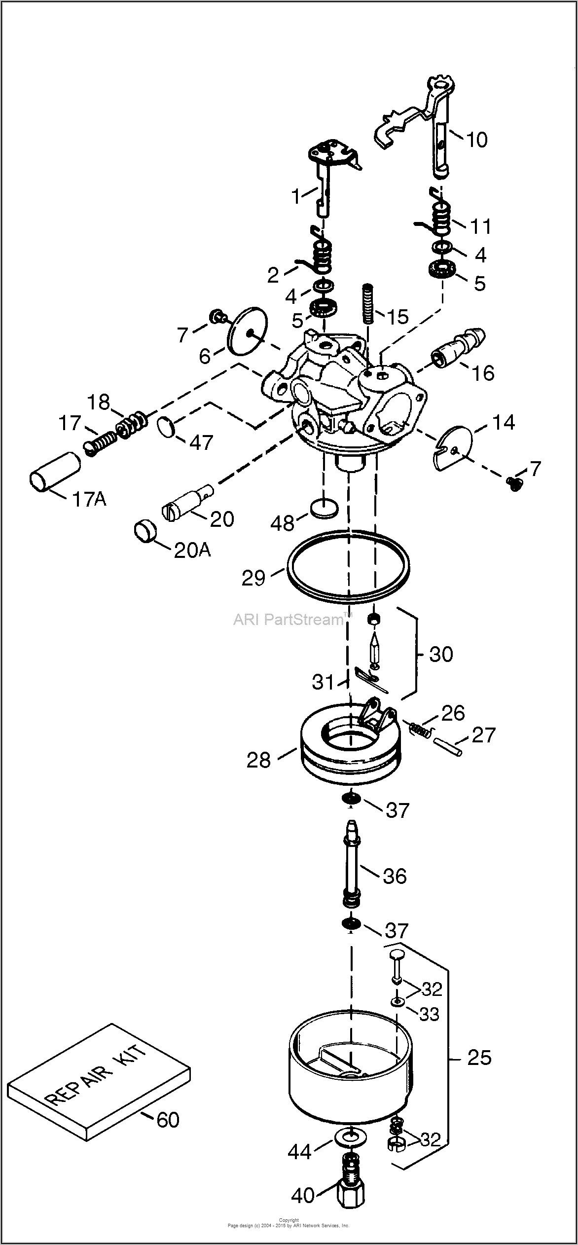 Honda Lawn Mower Carburetor Parts Diagram
