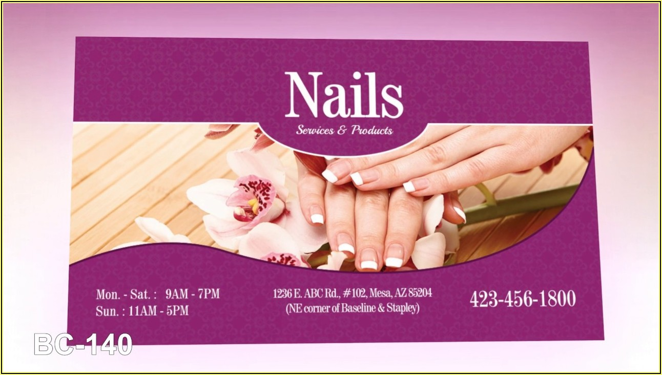 In Business Card Cho Tiem Nail