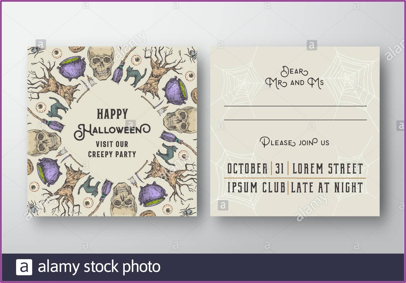 Invitation Card Layout Design