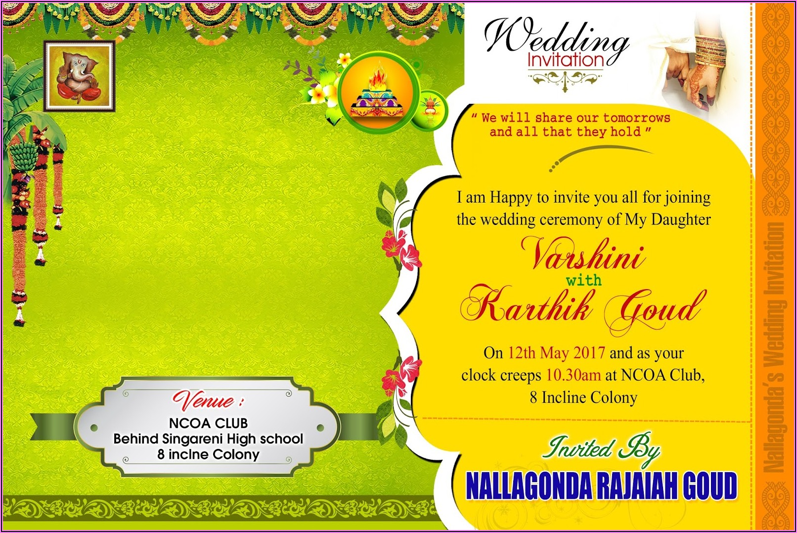 Invitation Card Template Free Online