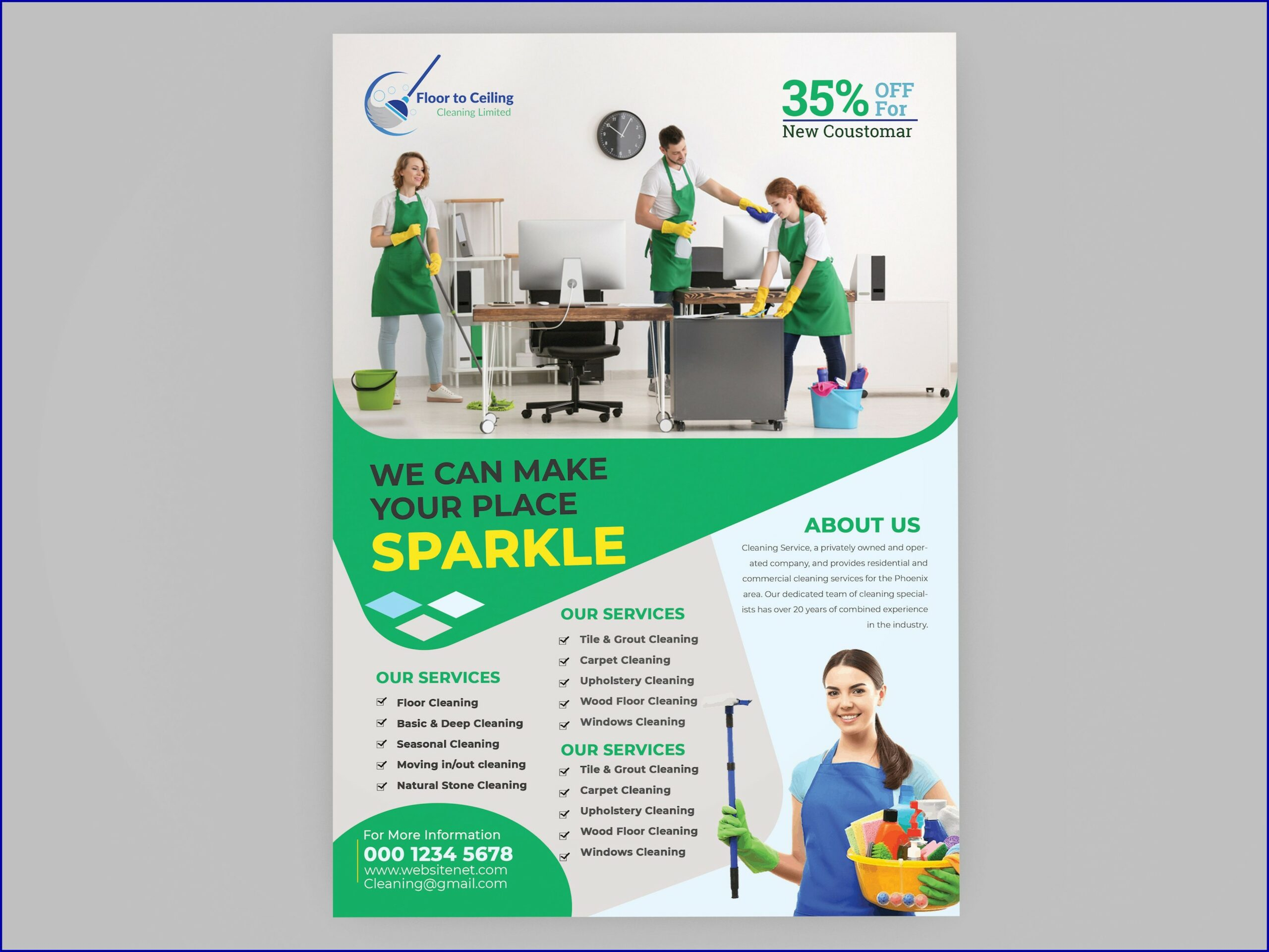 Janitorial Services Brochures Sample