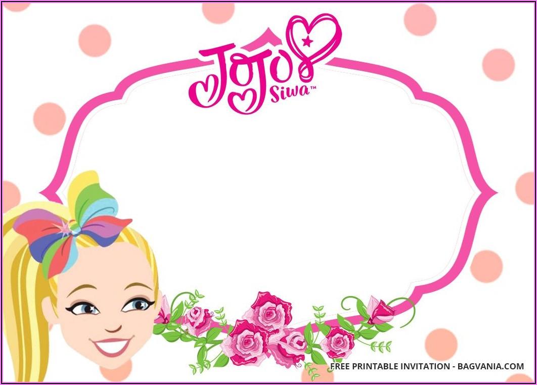 Jojo Siwa Birthday Invitations Printable