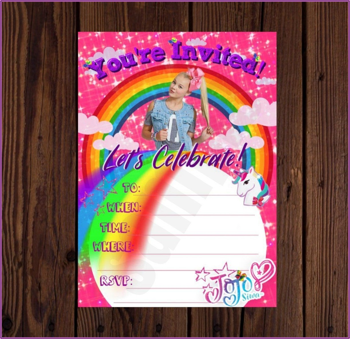 Jojo Siwa Birthday Invitations Target