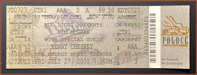 Kenny Chesney Concert History