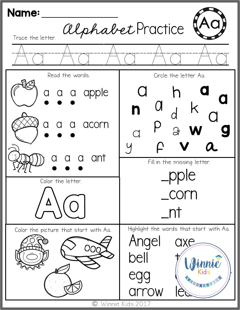 Kindergarten Letter Recognition Worksheets Pdf