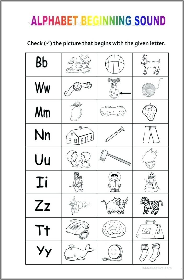 Kindergarten Letter Sounds Printable Worksheets