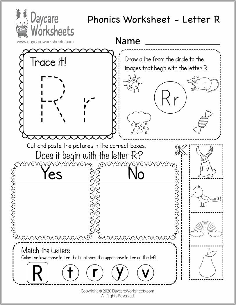 Kindergarten Letter Sounds Worksheets Pdf