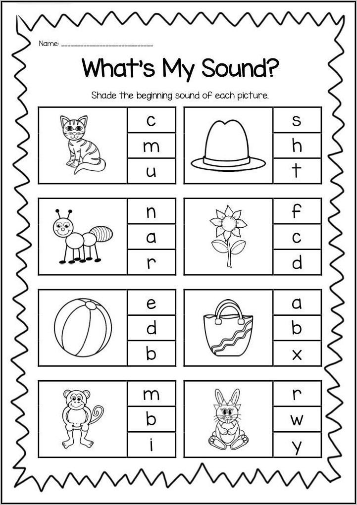 Kindergarten Letter Sounds Worksheets