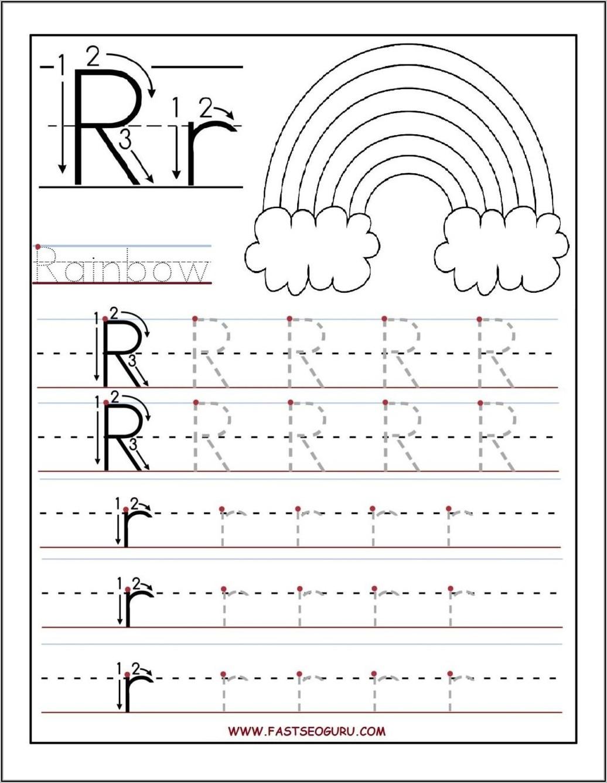 Kindergarten Letter Tracing Sheets