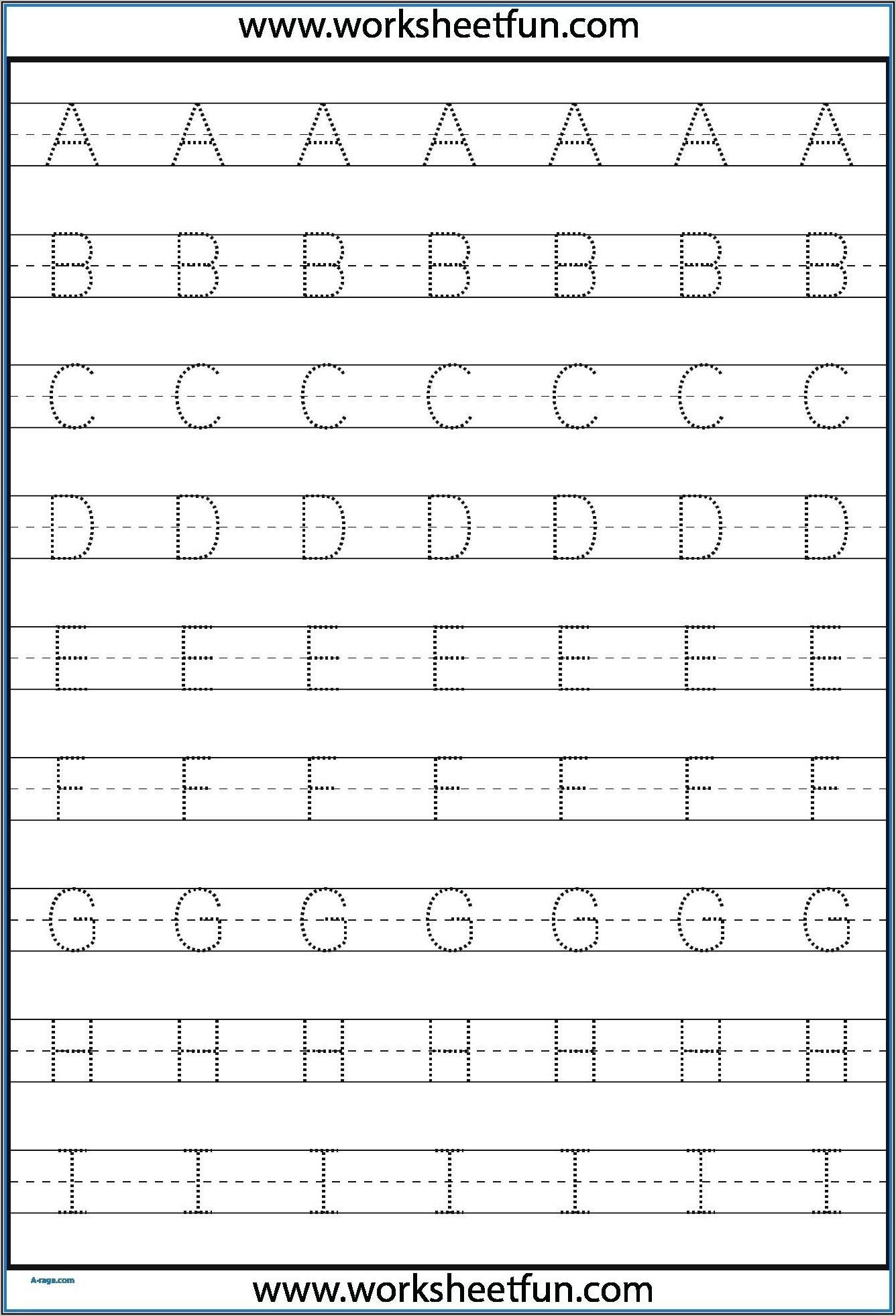 Kindergarten Letter Tracing Worksheets
