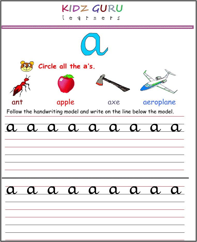 Kindergarten Letter Worksheets Printable