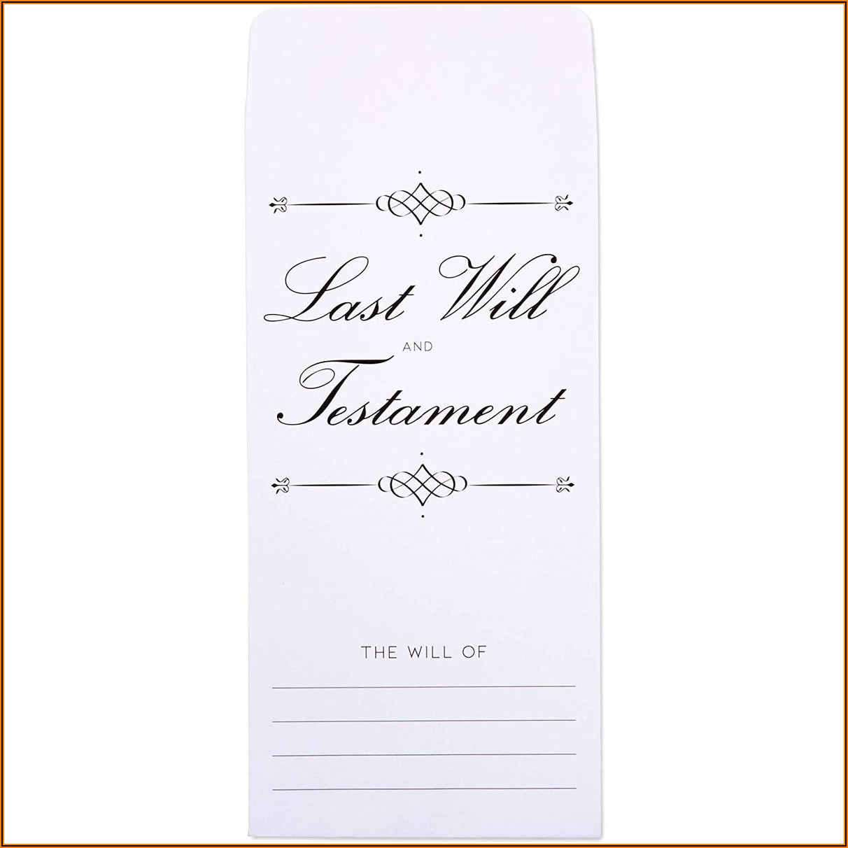 Last Will And Testament Envelopes