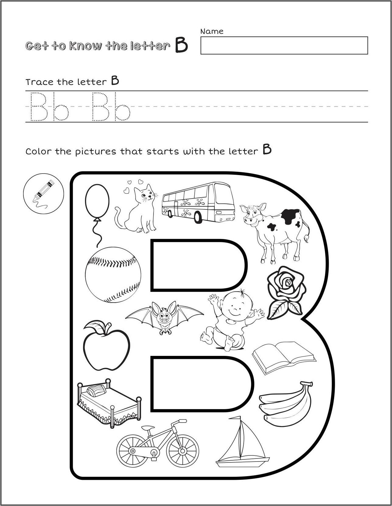 Learning Letter Sounds Worksheets