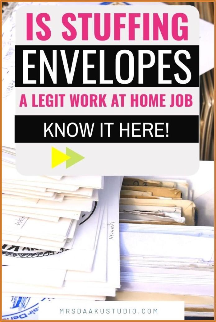 Legit Envelope Stuffing Jobs At Home
