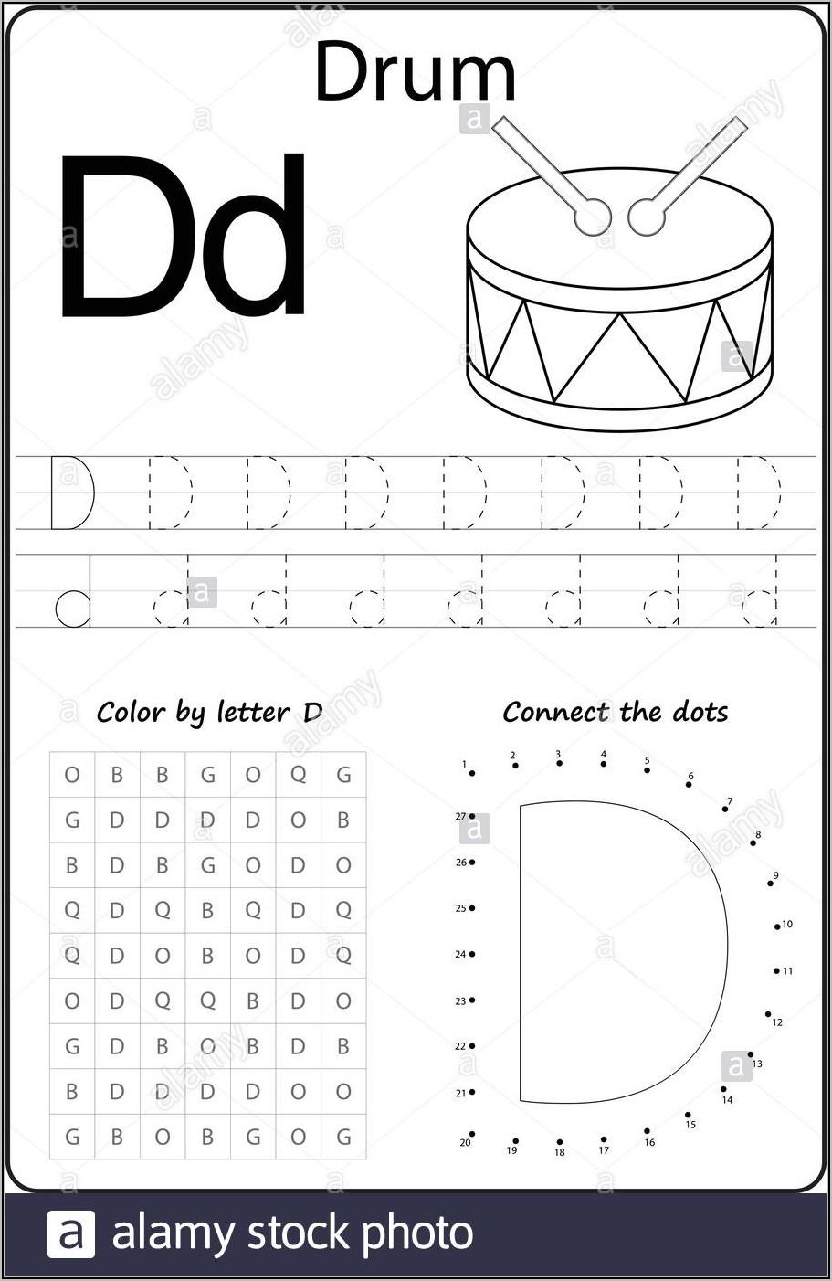 Letter Dd Worksheets For Kindergarten