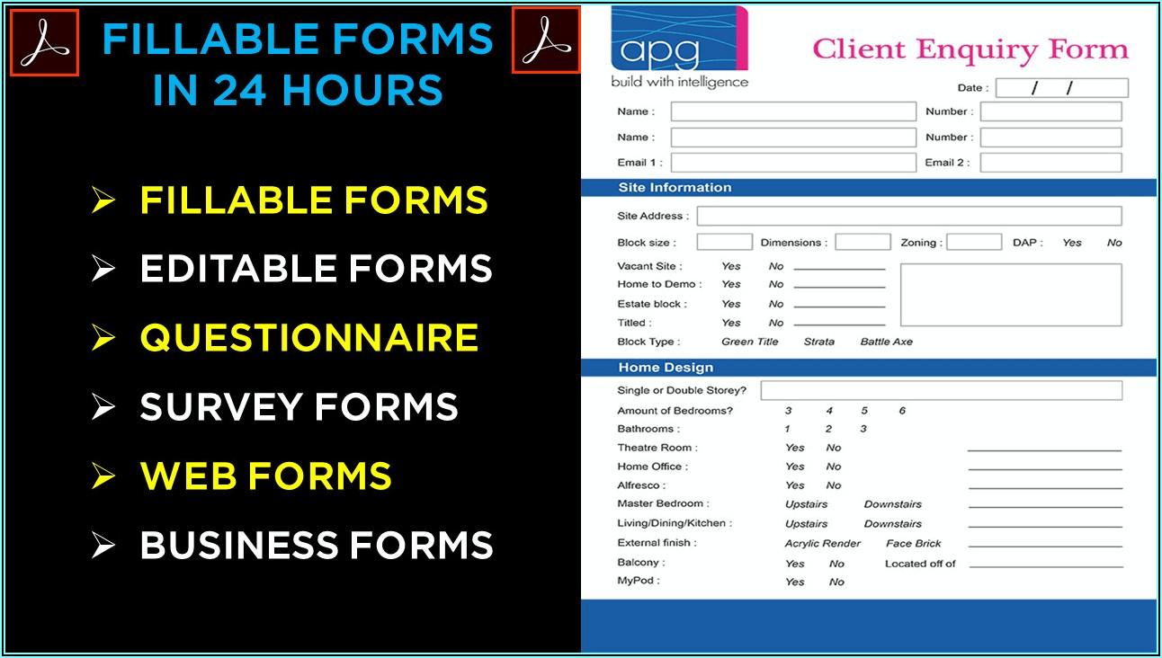 Make Editable Pdf Form Online