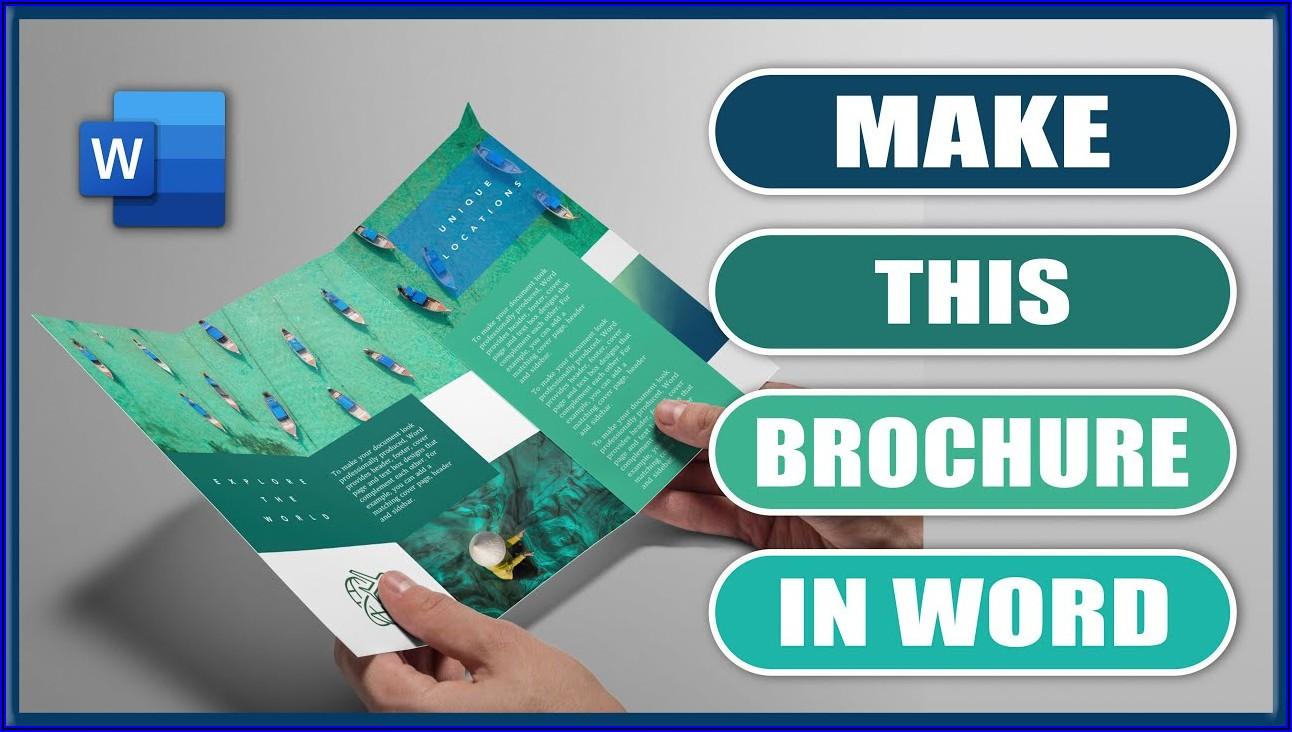 Make Tri Fold Brochure In Word