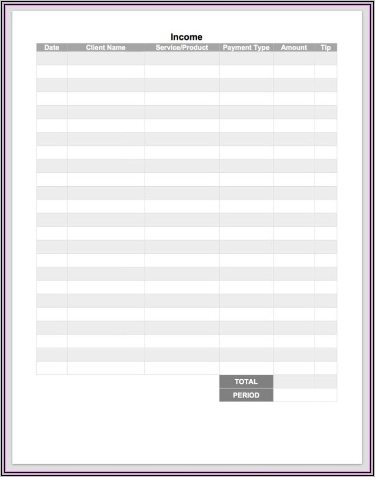 Massage Therapy Invoice Template