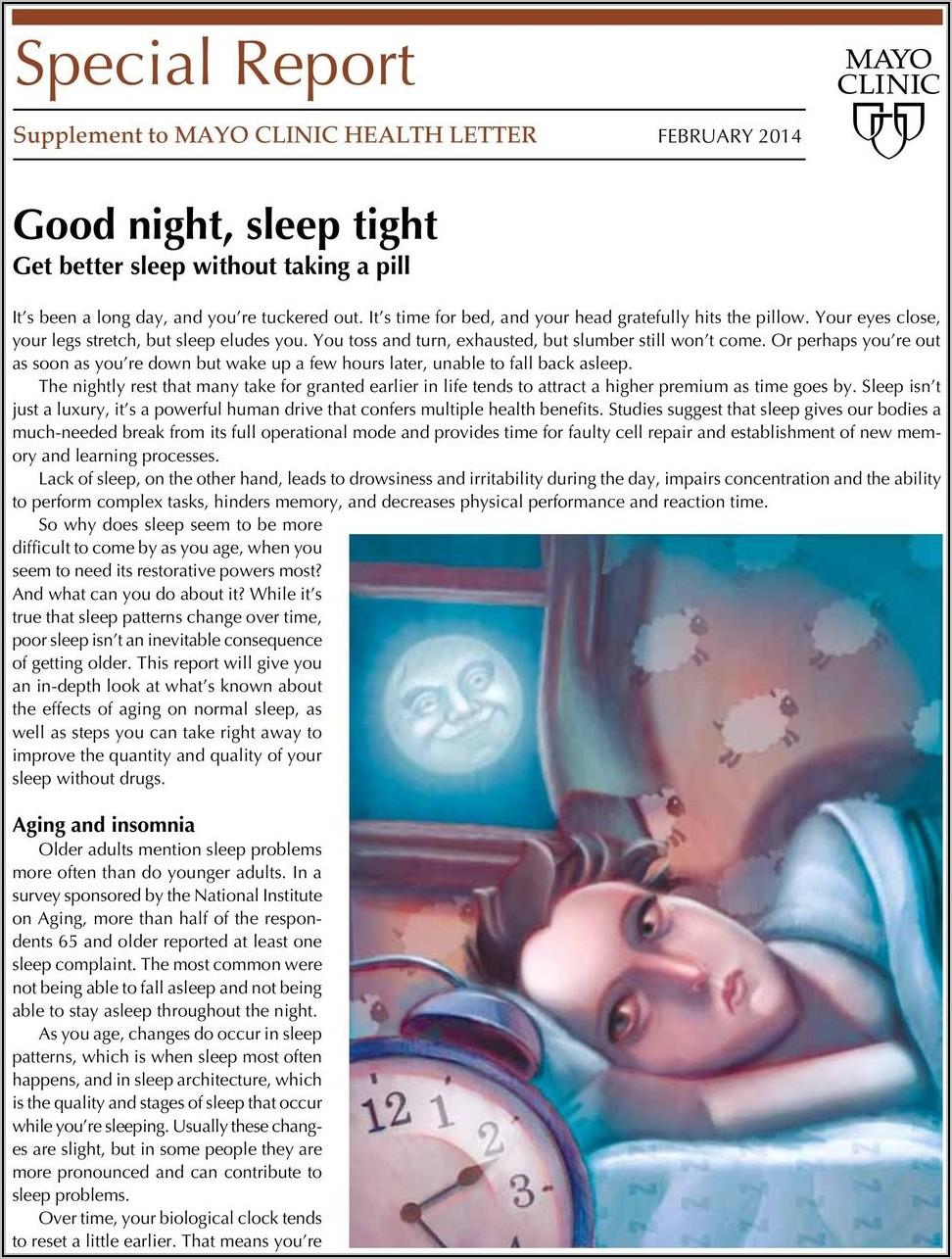 Mayo Clinic Health Letter Good Night Sleep Tight