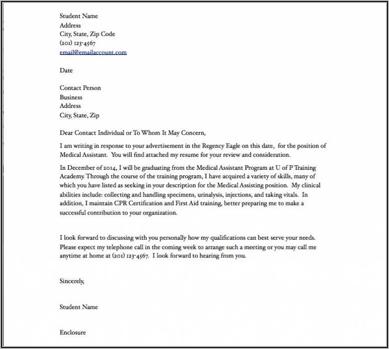 Medical Administrative Assistant Cover Letter Examples