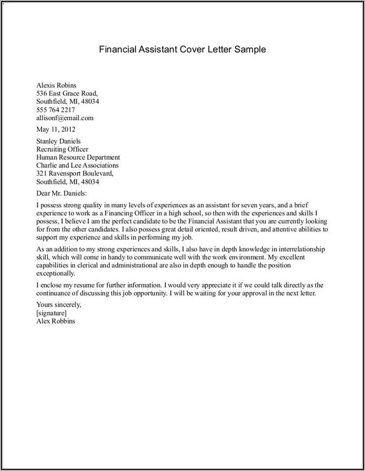 Medical Office Assistant Cover Letter Examples