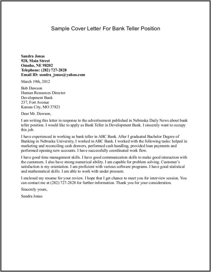 Medical Receptionist Cover Letter With Experience