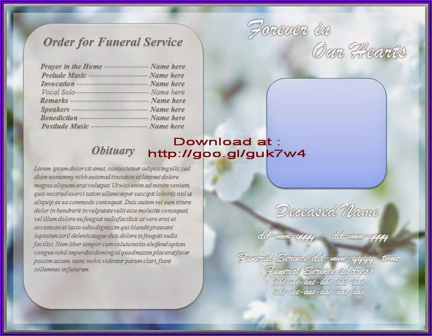 Microsoft Word Funeral Program Template Free