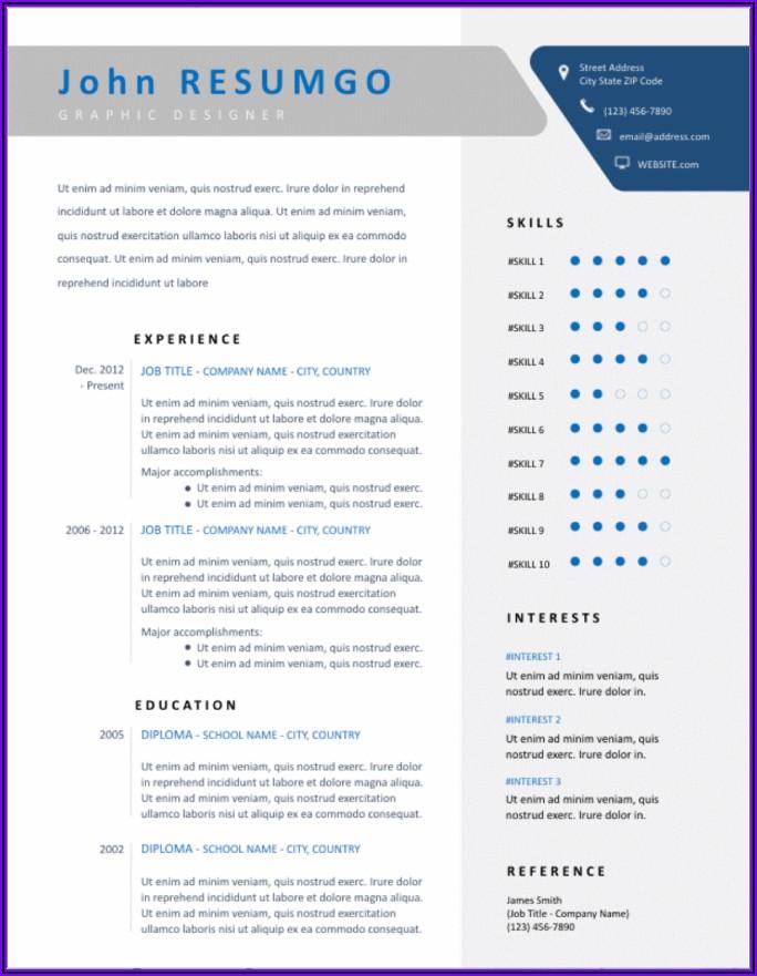 Microsoft Word Resume Template Free Download