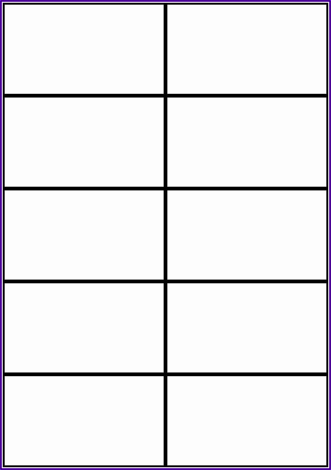 Microsoft Word Template For Note Cards