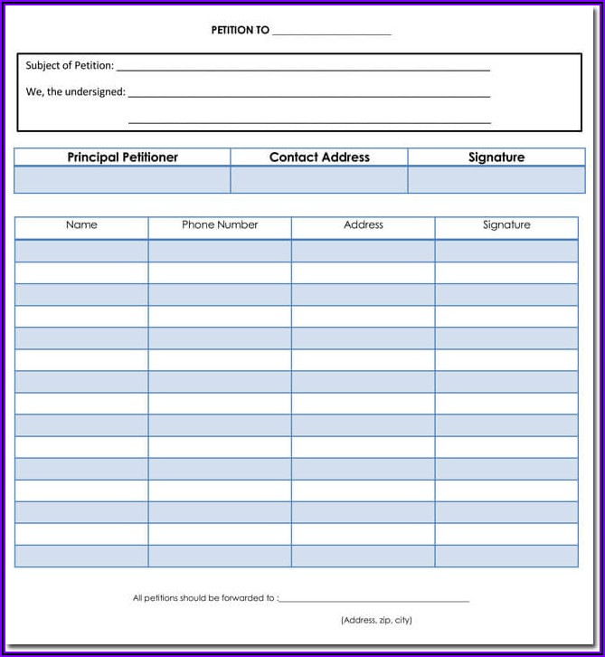 Microsoft Word Template For Petition