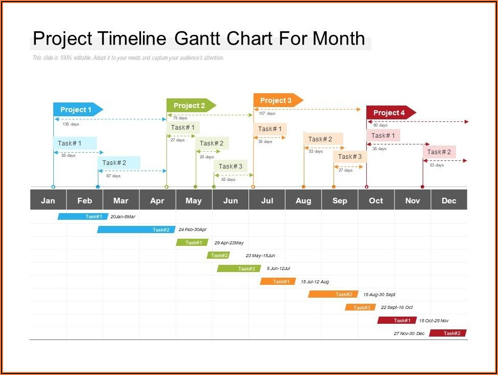 Month Timeline Ppt Template