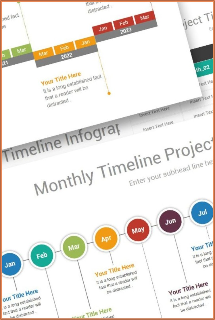 Monthly Timeline Powerpoint Template Free
