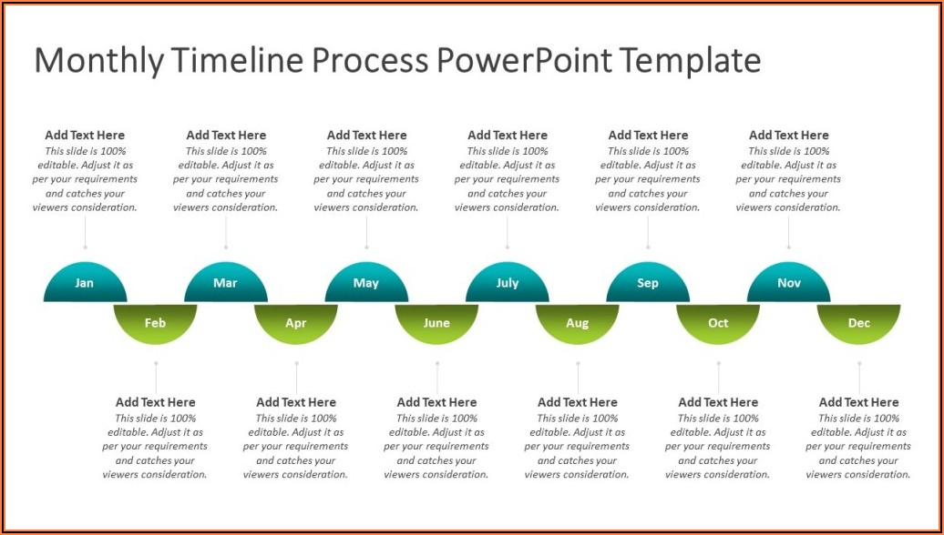 Monthly Timeline Template Powerpoint