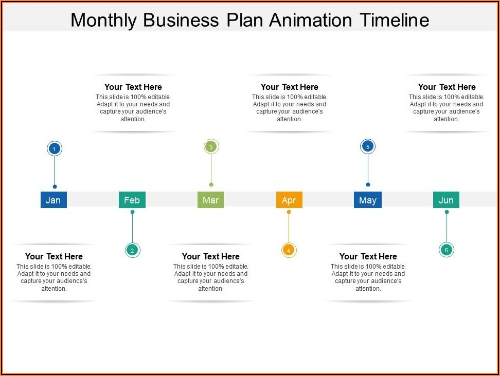 Monthly Timeline Template Ppt Free