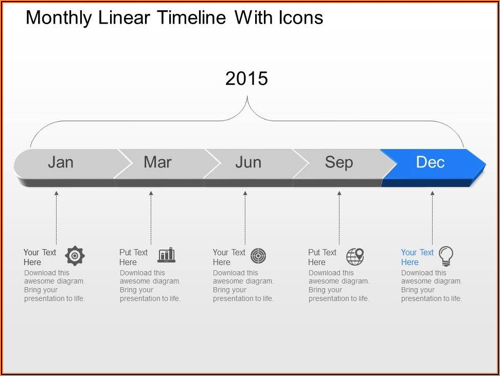 Monthly Timeline Template Ppt