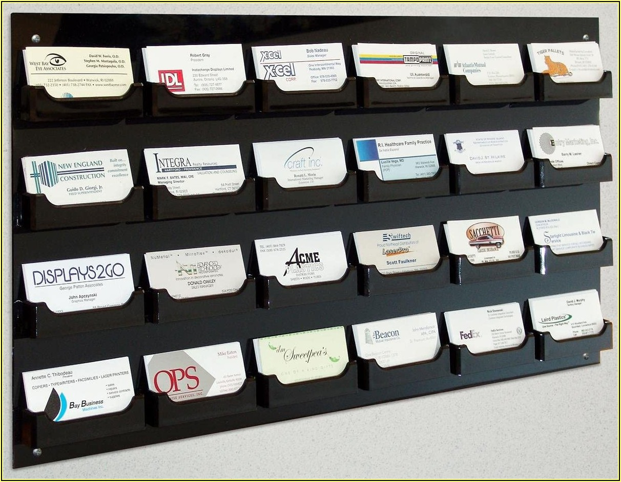 Mounted Business Card Holder